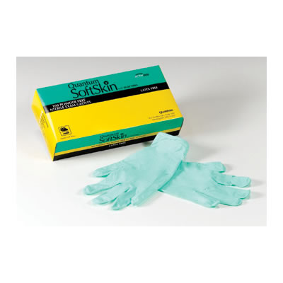 QUANTUM SOFTSKIN EXAM GLOVES WITH ALOE VERA