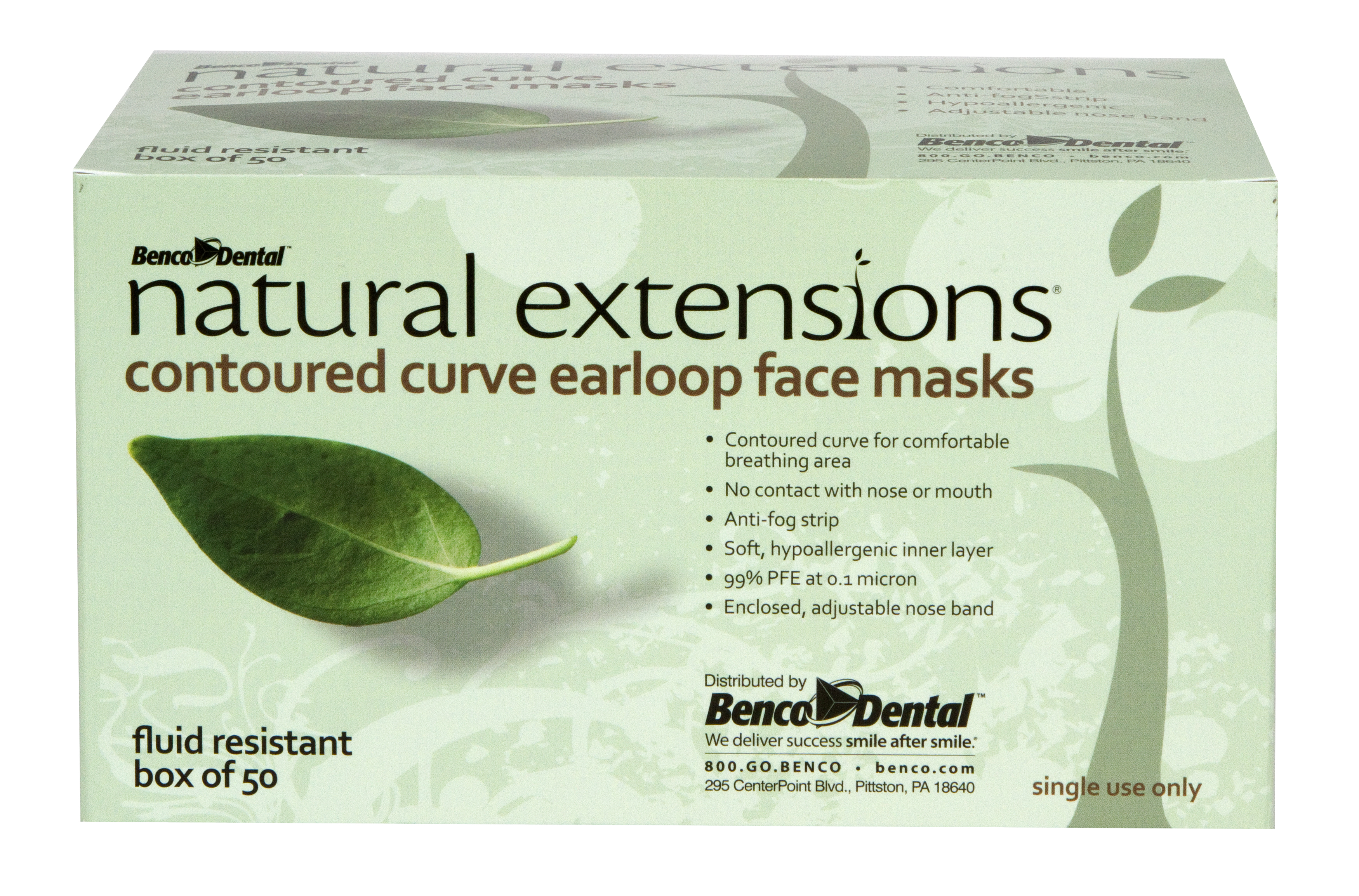 natural extensions contoured curve earloop mask