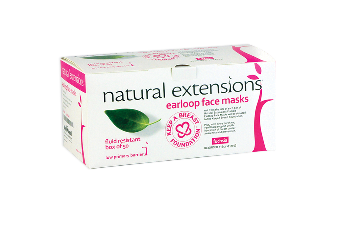 natural extensions fuscia earloop masks