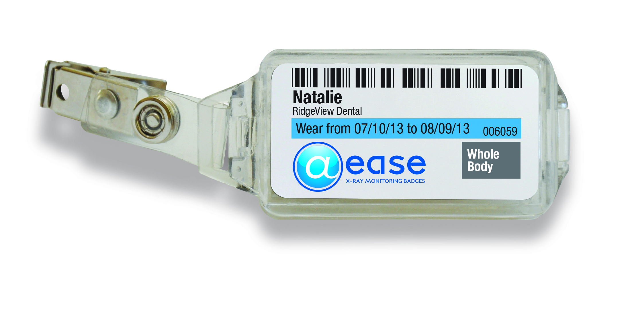 @ease Personalized X-ray Monitoring Badges