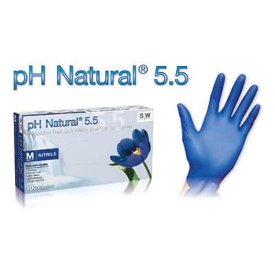 PH NATURAL 5.5 POWDER-FREE EXAM GLOVES