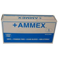 +Ammex Vinyl Exam Gloves - Powder Free, 100/:Box - Extra Large