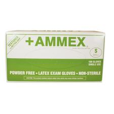 +Ammex Latex Exam Gloves - Powder Free, 100/:Box - Extra Small