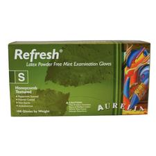 Aurelia Refresh Exam Gloves Green with Peppermint Fragrance