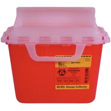 BD™ Patient Room Sharps Collectors – 5.4 Quart Red Horizontal Entry