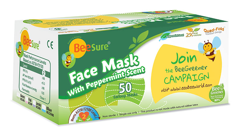 BeeSure Face Mask with Peppermint Scent