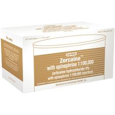 Zorcaine (articaine HCl and epinephrine Injection, Articaine hydrochloride 4% and epinephrine 1:100,000)
