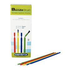 Benda Brush Disposable Applicator Mini, Assorted Colors with White Bristles, 144/:Pkg