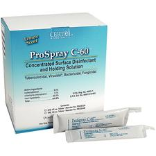 ProSpray C-60 Concentrated Surface Disinfectant and Holding Solution- Operatory Pack
