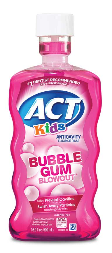 ACT® Kids' Alcohol-Free Anticavity Fluoride Rinse