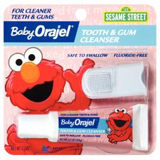 Baby Orajel Tooth and Gum Cleanser with Finger Brush - 0.7 oz Tubes, 6/:Pkg