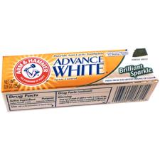 Arm & Hammer® Advance White® Brilliant Sparkle Toothpaste - 0.9 oz Tubes, 72/:Pkg