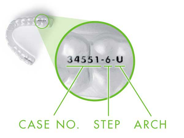 ClearCorrect Laser-Marked Aligners