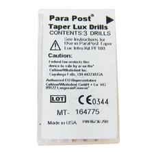 ParaPost® Taper Lux Translucent Esthetic Post System - Drills, 3/:Pkg - Blue/:Black, Size 0.045