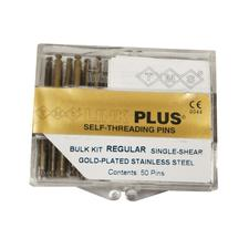 TMS® Link Plus® Self-Threading Pins - Gold-Plated Stainless Steel Regular, Single Shear Kits - Bulk Kit