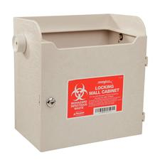 SharpSafety Locking Wall Cabinet for 4 and 8 Quart Monoject Sharps Container