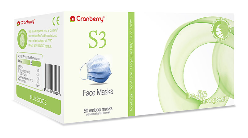 Cranberry S3 Earloop Face Masks
