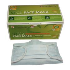 Cranberry S3 C2 Earloop Face Masks, 50/:Box
