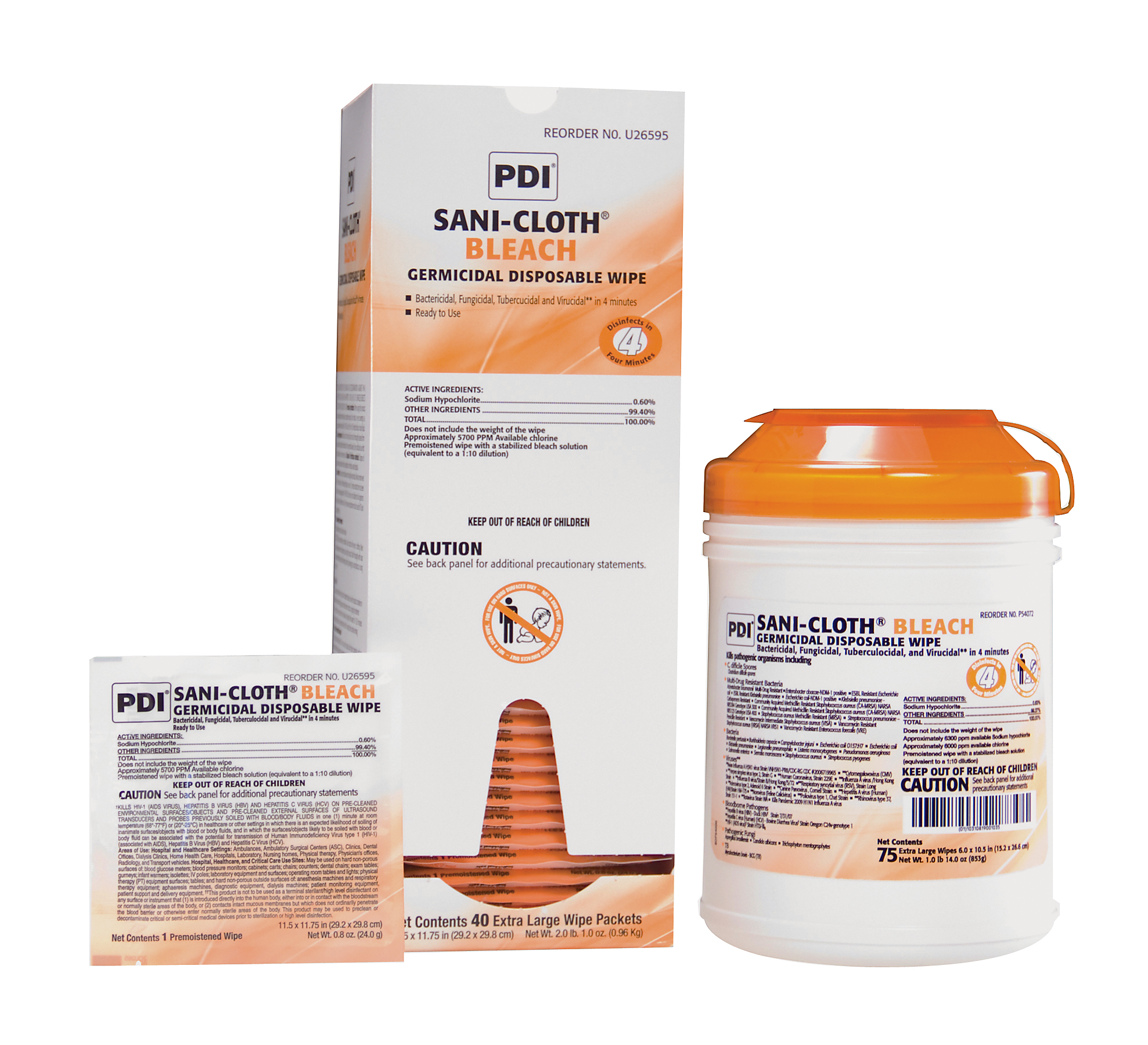 Sani-Cloth Bleach Germicidal Disposable Wipes