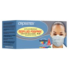 Isofluid FogFree Earloop Face Masks with Shield, 25/:Box
