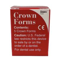 Crown Form Refill - Clear, Celluloid, 5/:Pkg - A2, Extra Large, Left Lateral
