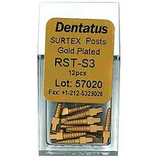 SURTEX Surface Treated Gold-Plated Post Refill - Short, Length 7.8 mm, 12/:Pkg - Size 1, Diameter 1.05 mm
