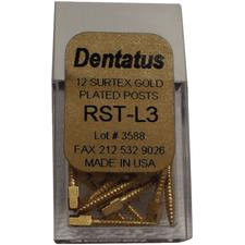 SURTEX Surface Treated Gold-Plated Post Refill - Long, Length 11.8 mm, 12/:Pkg - Size 1, Diameter 1.05 mm