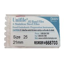 Unifiles Stainless Steel Hand Files - 21 mm, 6/:Pkg - 10