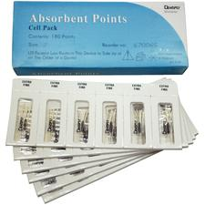 Absorbent Paper Points - Sterile, Cell Pack, 180/:Box - Assorted