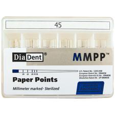 Millimeter Marked Absorbent Paper Points Spill-Proof Box, ISO Size, Color Coded, 200/:Pkg
