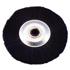 Black Bristle Wheel Brush On Steel Hub