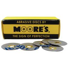 Paper Brass Center Abrasive Discs - Microfine, 50/:Pkg