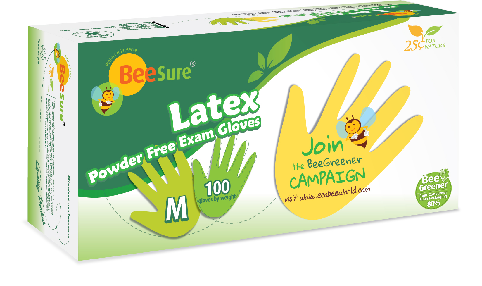 BeeSure Latex Exam Gloves