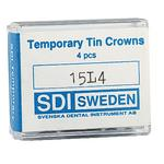 Temporary Tin Crowns, 4/:Pkg