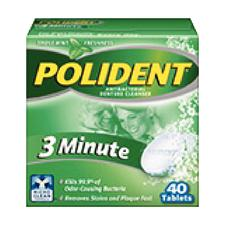 Polident® 3-Minute Anti-Bacterial Denture Cleanser, 40/:Pkg - Polident® 3-Minute Anti-Bacterial Denture Cleanser, 40/:Pkg
