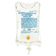 5% Dextrose and Lactated Ringer's Injection, USP- 500 ml, 24/:Pkg