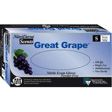 Nitriderm Great Grape Nitrile Exam Gloves