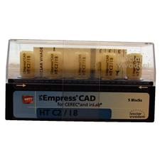 IPS Empress® CAD HT (High Translucency) Blocks, Shades A-D, 5/:Pkg - Shade A1, Size I10