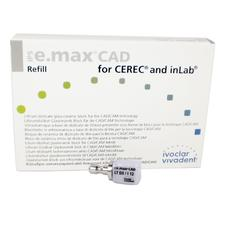 IPS e.max® CAD Blocks - LT (Low Translucency), Size I12, 5/:Pkg - Shade A1