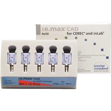 IPS e.max® CAD Abutment Blocks - MO (Medium Opacity), Size A14, 5/:Pkg - Shade 0, Size A14 (L)