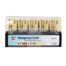 IPS Empress® CAD LT (Low Translucency) Blocks, Chromascope Shades 100-300, 5/:Pkg - Shade 100, Size C14