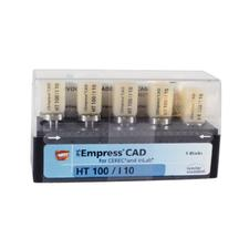 IPS Empress® CAD HT (High Translucency) Blocks, Chromascope Shades 100-300, 5/:Pkg - Shade 100, Size I10