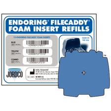Endoring FileCaddy Foam Inserts, 12/:Pkg