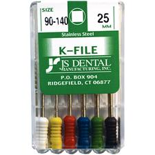 K-Files - Stainless Steel, 25 mm, 6/:Pkg