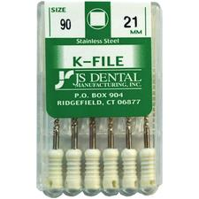 K-Files - Stainless Steel, 21 mm, 6/:Pkg - Assorted Sizes 45-80