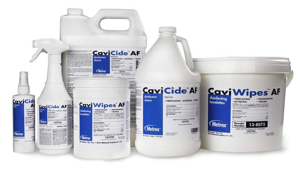 CaviCide and CaviWIpes Surface Disinfection