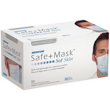 Safe+Mask SofSkin Procedure Earloop Masks, 50/:Box
