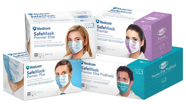 Safe+Mask Premier Earloop Masks