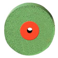 Diamond Polisher for Porcelain - Light Green/:Orange, Coarse, HP - Wheel, 9752G, 17.0 mm Diameter