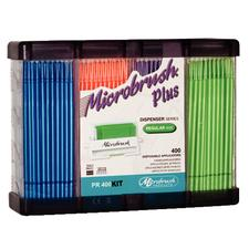 Microbrush Plus Dispenser Series Applicators - Regular Tips (2 mm), 400/:Pkg - Assorted Colors